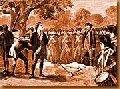 Nathan Hale being executed