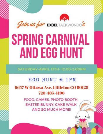 Spring Carnival Egg Hunt Excel Taekwondo