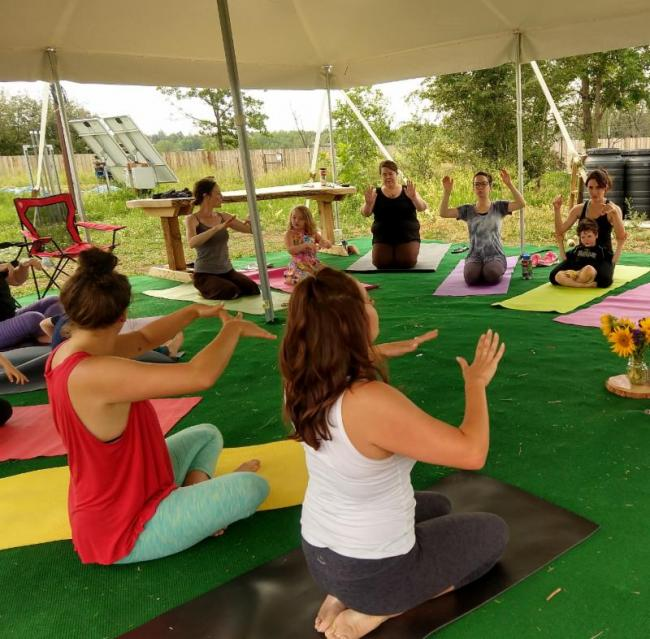 Farmside Family Yoga | Kids Out and About Denver