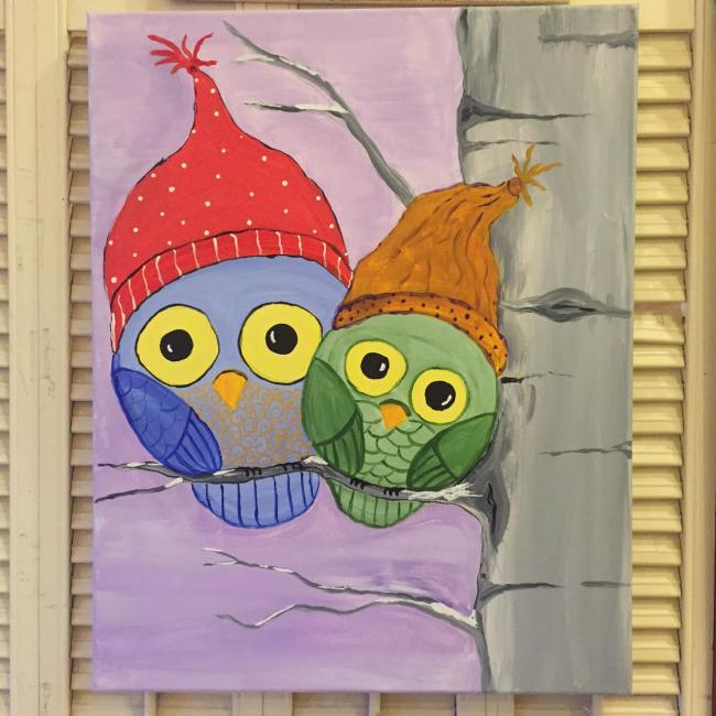 January Kids & Teen Workshops: Cozy Owls Painting (ages 5 - 12 ...