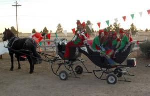 Sleigh Rides With Santa At Holly Acres Nursery