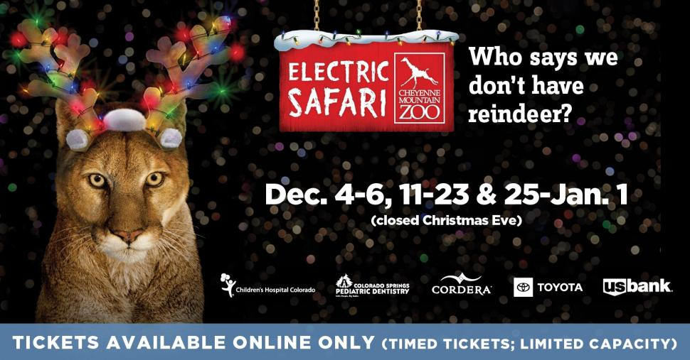 Best Christmas Lights In Colorado Springs 2020 Tickets Now Available   Electric Safari 2020 | Kids Out and About